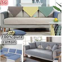 100% PURE COTTON Sofa Cover Protector*Sofa Cushion*Sofa Couch Cover*Sofa Bed Cover*Pillow Cushion