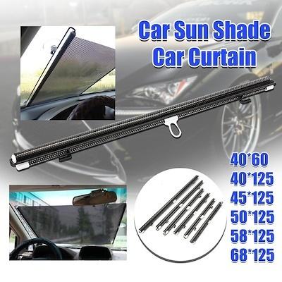 2set Flexible Car Sun Shade Side Window Curtain Foldable UV Protection Removable
