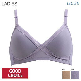 Lecien Good Choice Cross Mesh Wireless Molded Cup Bra (Sizes A-B)(7416278)