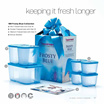 Tupperware Frosty Blue Collection (7 items)