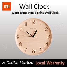 Xiaomi Mijia About Time Clock Beech Wooden Mute Wall Clock