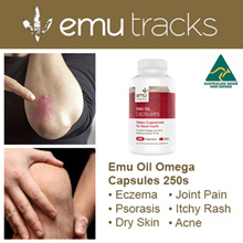 [USE CART COUPON N PAY LESS] EMU TRACKS PURE EMU OIL OMEGA CAPSULES 250s.