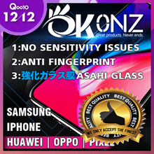 ★Easy Installation★No Sensitivity Issue★True Premium★OKONZ Japan 10D Tempered Glass★