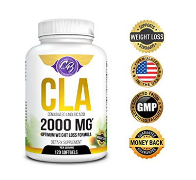Optimum Dosage Cla 2000mg 120 Count Softgels Best Belly Fat Burner Weight Loss Pills Lose Weight Fas