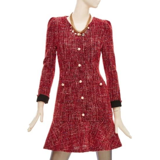 フォーカス・ツイード晋州一チェイル毛織ワンピースFBFW1OP4760 面ワンピース/ 韓国ファッション