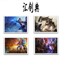 LOL League of legends poster framed paintings Internet caf&#233  bar decorative painting e-sport p