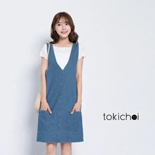 TOKICHOI - Denim Jumper Dress-171029