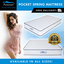 Amour Brand Pocket Spring Mattress Single size/Super Single size/Queen size/King size Free delivery