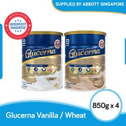 [Bundle of 4] Abbott Glucerna Triple Care Powder Vanilla/Wheat 850g