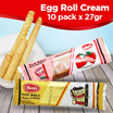Egg Roll Strawberry Cream / Chocolate Cream 10 pack x 27gr