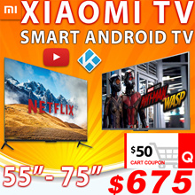 Smart XIAOMI Android TV 55 75inch 1year warranty FREE SHIPPING