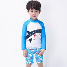 Wholesale Korea shark shape the baby boys swimsuits-hot springs swim wear sunscreen for children sur