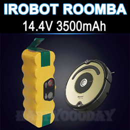 For iRobot Roomba FLOUREON 14.4V 3500mAh Ni-MH Vacuum Cleaner Rechargeable Battery Pack Replacement for 500 550 560 780