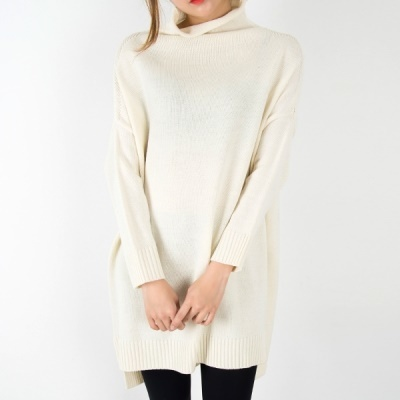 [Cookie 7] P2909 Half polar loose fit long knit(4color)