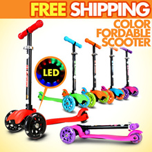2015 2tone Color Fordable Scooter / Adjustable Handle Bar / Kick / Kids / Adult / Bike / Cycle / Bic