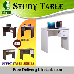 SOLID WOOD COMPUTER STUDY TABLE   7 CLASSIC DESIGNS   FREE DELIVERY + INSTALLATION