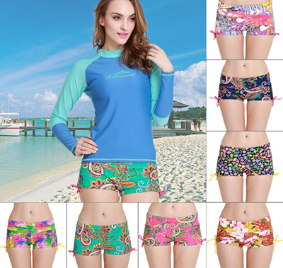 1ba2181a0b Qoo10 - Lady Women Beach Swimming Pool Flower Print Hot Short Pants ...
