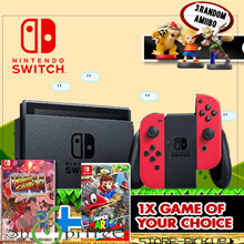 NEW Mario Odyssey Nintendo Switch Bundled. 2 Games (Mario Odyssey n  1 x Game of your choice) + Nintendo Switch Privacy Filter + 3 Random Amiibo Figurines. Local Maxsoft 12 Months Warranty!