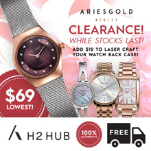 [ARIES GOLD] [ARIES GOLD CLEARANCE] LADIES AND MENS WATCHES |Free Limited Battery|Free Shipping