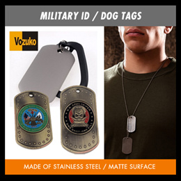 authentic usa military id/dog tag for identification