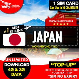 Japan sim card :( Softbank Network ) 3.6GB highspeed UNLIMITED  4G Data for 30days.Can Top-Up