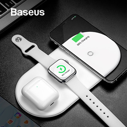 Baseus Wireless Charger For iPhone X XS MAX XR 8 Fast Wireless Full load 3 in 1 Charging Pad for Air