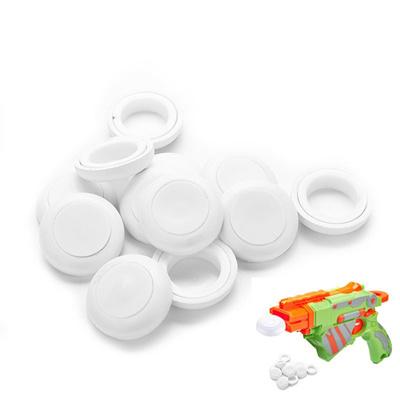 Mini Foam Frisbee Soft Disk Gun Bullets for Nerf Gun toys White 12 Pcs