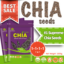 OVER 3K+ REVIEWS-[1+1+1+1]1.2KG Suplementos Organically Grown Supreme Chia Seeds from South America