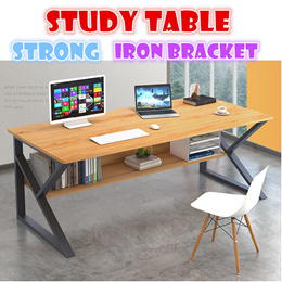 Strong Iron bracket Study table laptop desk storage layer bedside table adjustable with wheel