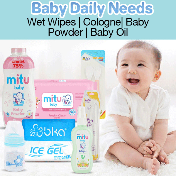 ANEKA BRAND Mitu Baby Tissue Basah | Cologne | Powder Deals for only Rp22.000 instead of Rp24.719