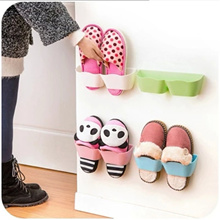 ASN New Shoe Racks Creative Wall Paste Shoe Hanger ABS Resin Material 6 Colors Shoe Storage Holder M
