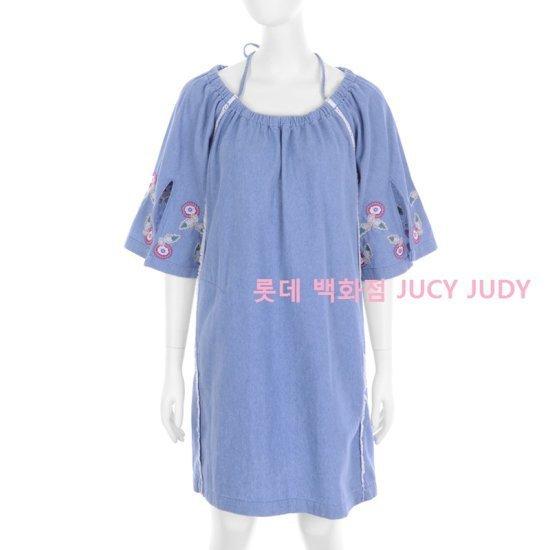 ジューシージュディフラワー自首ポイントのデニムワンピースJROP326C 面ワンピース/ 韓国ファッション