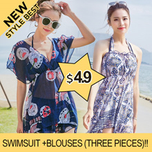 New style Best  Swimsuit +Blouses (three pieces)!!Swimming wear/Bikini sexy swimwear beach swimwe