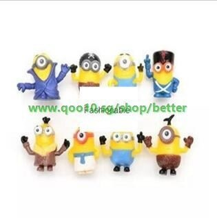 Qoo10 8 Pcs Set Cute Action Figures Minions Anime Toys For