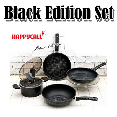 Qoo10 happycall diamond black edition 4 pcs set korea for Qoo10 kitchen set