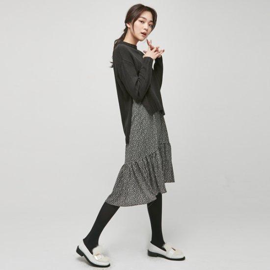 ナインNAINスウィーティービュスチェワンピースOP3211 面ワンピース/ 韓国ファッション