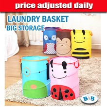 ★price adjusted daily★Foldable Laundry Basket/Cartoon Laundry Bag/Cute Toy Storage/Clothes Organizer/Storage Basket/Housekeeping Basket Bag/Mesh Fabric Washing Storage/Dirty Clothes Storage