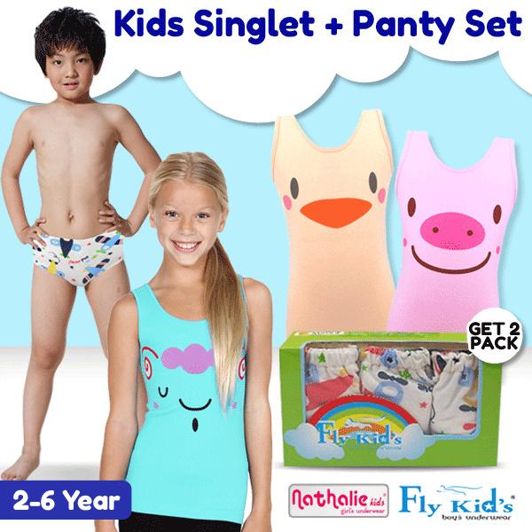 [GET 2 BOX] Nathalie Kids Singlet Anak Wanita NTK 1079 isi 3pc dan Tanktop NTKA 3077 isi 3 pcs Deals for only Rp120.000 instead of Rp120.000