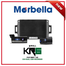 NEW★Korea Made Blackbox★ Marbella KR6 2H FHD1080P+HD720P Dual Cam Recorder Ultra-compact/Wi-Fi/24hrs