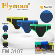 [GET 3 PCS] Flyman Midi Brief Bright FM 3107