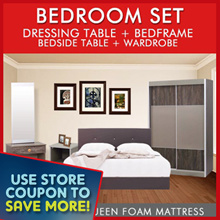 [Furniture Specialist] BEDROOM SET - Mattress+Bedframe+bedside and dressing table+wardrobe