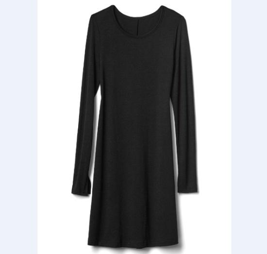 ギャップ女性Softspun長い腕スイングワンピース5127340013099 面ワンピース/ 韓国ファッション