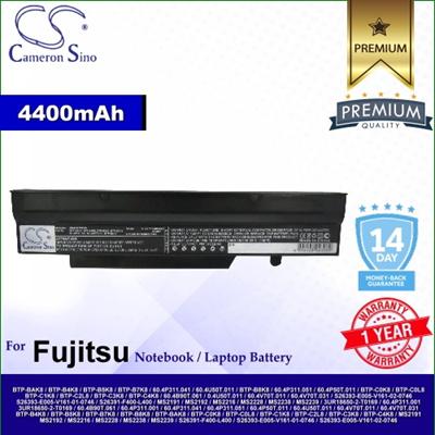 CameronSino Battery for Fujitsu 0.4U50T.011 / 3UR18650-2-T0169 / 3UR18650F-2-QC-12 Battery FU1720NB