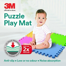 [Official E-Store] 3M™ Puzzle Play Mat - Child Safety / Cushion / Foam / Anti-slip / Non-toxic
