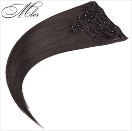 Clip in Remy Human Hair Extensions Malysian Straight Clip In Hair Extensions 7Pcs/Set