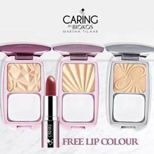 Caring by Biokos - Buy 1 Dual Action Cake Powder Get FREE 1 Lipstick