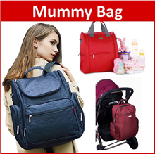 INSULAR® Diaper Baby Mummy Bag Backpack Multi-Functional Nappy Baby Care Changing Pad Travel