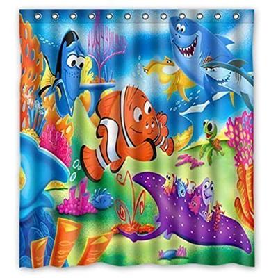 66 X72 Finding Nemo Shower Curtain Waterproof Fabric