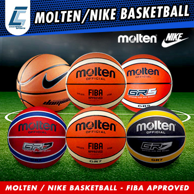 MOLTEN OFFICIAL GR7 GR6 GR5 FIBA APPROVED BASKET BALL SIZE:567 AND DOMINATE BASKETBALL ON