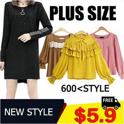 2018 NEW STYLE! S-7XL PLUS SIZE Fashion Lady Clothing/Blouses/T-shirt/Dress/Pants Deals for only S$29 instead of S$0